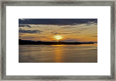 Alaskan Sunset Framed Print by Robert Joseph