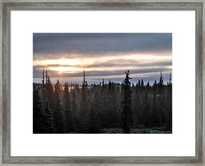 Alaskan Sunset Sunrise Framed Print