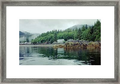 Alaskan Village 2 Framed Print by Judyann Matthews