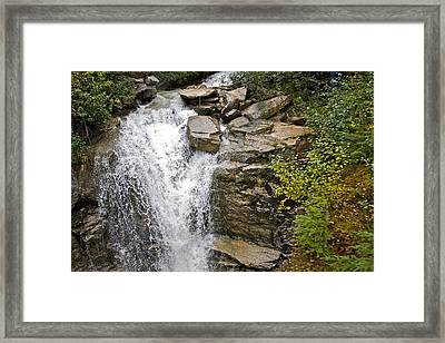 Alaskan Water Fall Framed Print by Robert Joseph