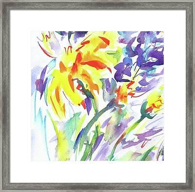 Alaskan Wildflowers Framed Print