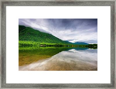 Alaska's Mirror Lake Framed Print