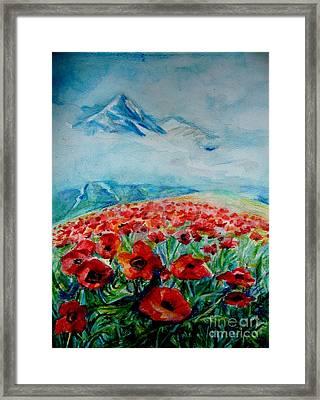 Alatau Framed Print by Anna  Duyunova