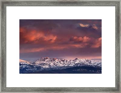 Alayos Mountains At Sunset Sierra Nevada Framed Print