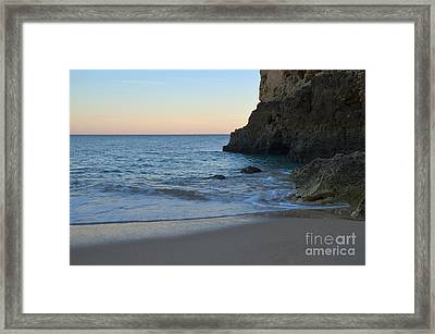 Albandeira Beach Welcoming Twilight 2 Framed Print