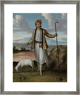 Albanian Herdsman Framed Print by Jean Baptiste Vanmour