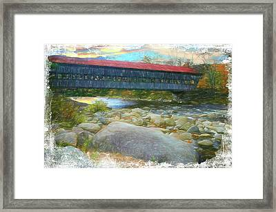 Albany Covered Bridge Nh. Framed Print