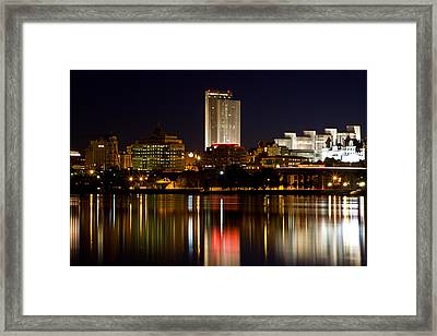 Albany On The Hudson Framed Print