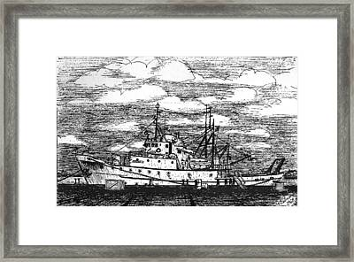 Albatross Iv At Fisheries Pier Framed Print