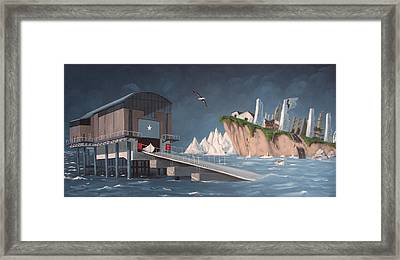 Albatross Framed Print by Tony Gunning