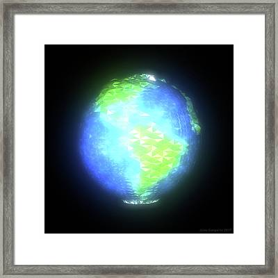 Albedo - Americas By Day Framed Print