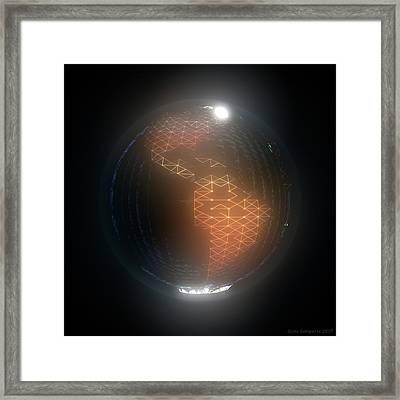 Albedo - Americas By Night Framed Print