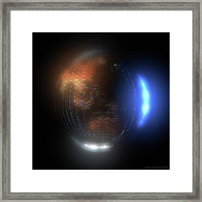 Albedo - Transition From Night To Day Framed Print