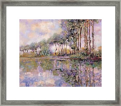 Alberi Sul Fiume Framed Print