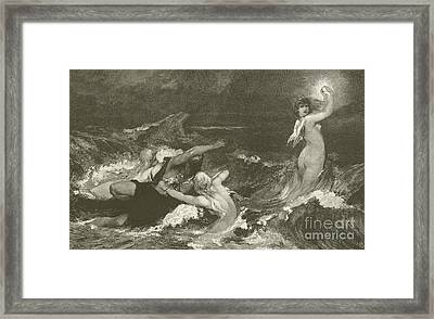 Alberich's Pursuit Of The Nibelungen Ring Framed Print