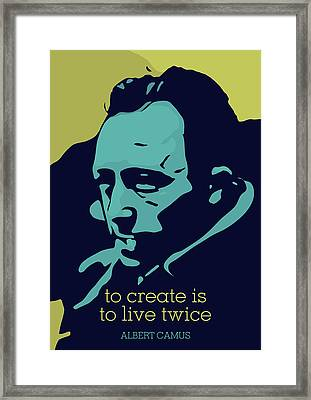 Albert Camus Framed Print by Greatom London