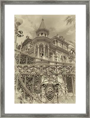 Albert Chamas Villa Framed Print by Nigel Fletcher-Jones