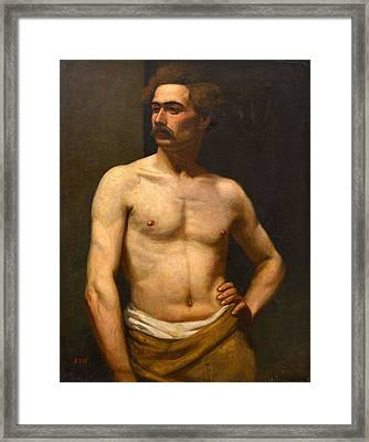 Framed Print featuring the painting Albert Edelfelt Male Model by Artistic Panda
