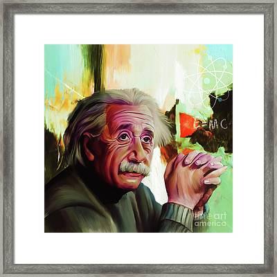 Albert Einstein 01 Framed Print by Gull G