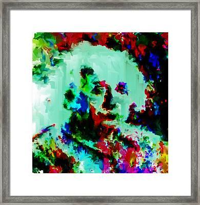 Albert Einstein 02a Framed Print
