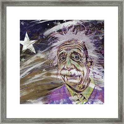 Albert Einstein 10u Framed Print by Gull G