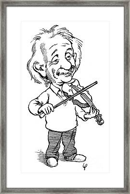 Albert Einstein (1879-1955) Framed Print