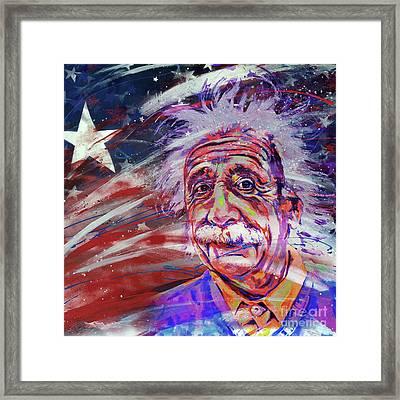 Albert Einstein 34gh Framed Print by Gull G