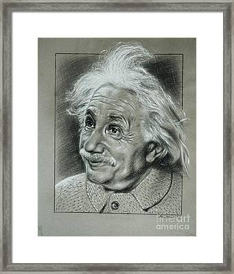 Albert Einstein Framed Print by Anastasis  Anastasi