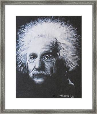 Albert Einstein Framed Print by Eric Dee