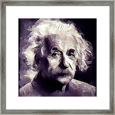 Albert Einstein Famous Scientist Framed Print by Esoterica Art Agency