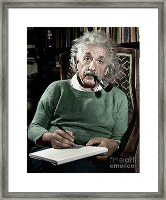 Albert Einstein - To License For Professional Use Visit Granger.com Framed Print