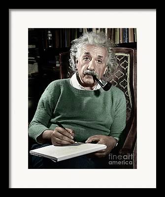Albert Einstein Framed Prints