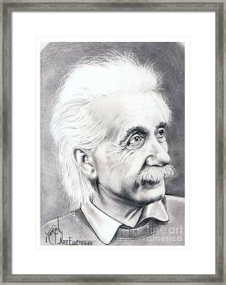 Albert Einstein  Framed Print by Murphy Elliott