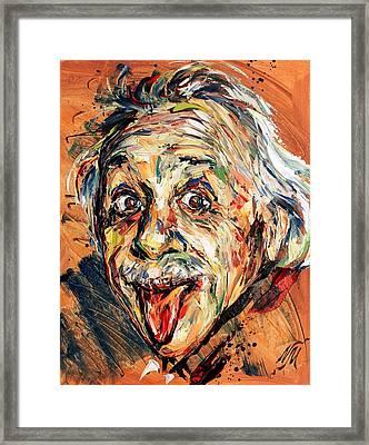 Albert Einstein Framed Print by Natasha Mylius