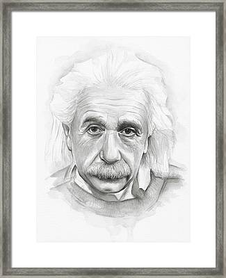Albert Einstein Portrait Framed Print