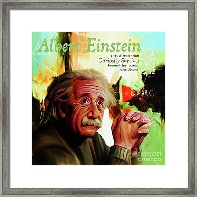Albert Einstein Quote  Framed Print by Gull G