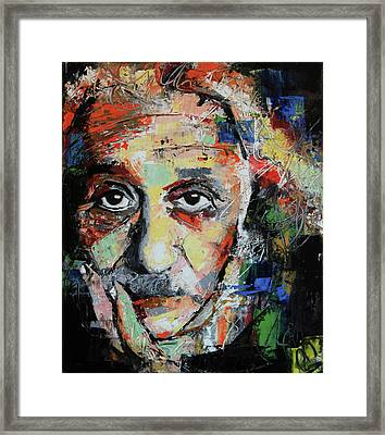 Albert Einstein Framed Print by Richard Day