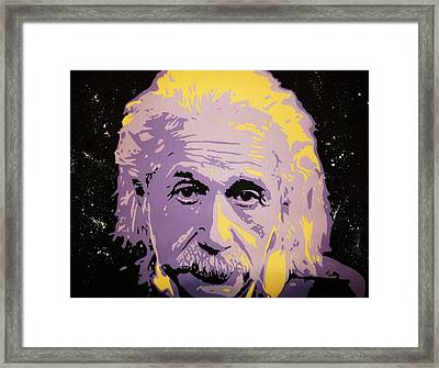 Albert Enstein  Framed Print by Grant  Swinney