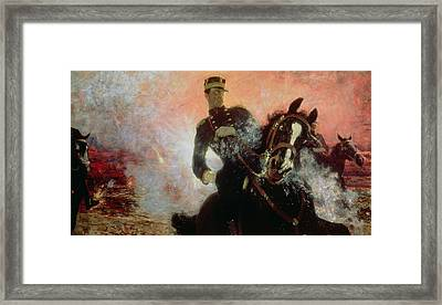Albert I King Of The Belgians In The First World War Framed Print by Ilya Efimovich Repin
