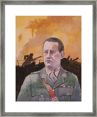 Framed Print featuring the painting Albert Jaka Vc by Ray Agius