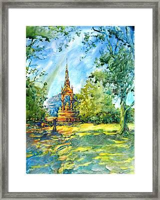 Albert Memorial Framed Print by Virgil Carter
