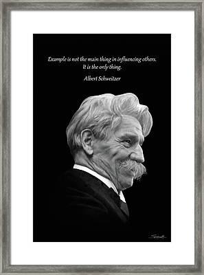 Albert Schweitzer Portrait Framed Print