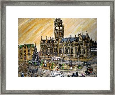 Albert Square Manchester 1900 Framed Print