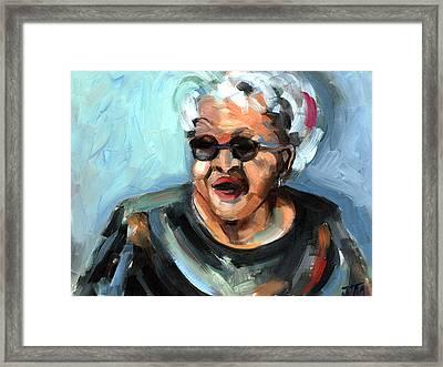 Alberta Adams Framed Print by Jackie Merritt