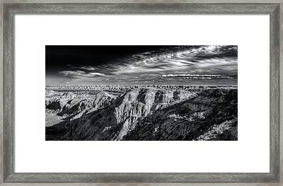 Framed Print featuring the photograph Alberta Badlands by Wayne Sherriff