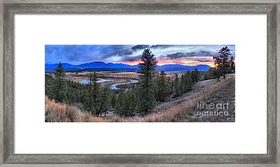 Alberta Columbia Wetlands Panorama Framed Print