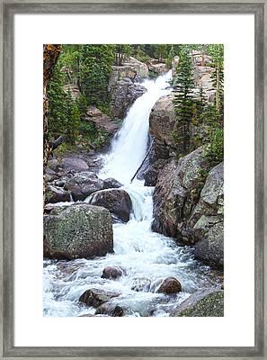 Alberta Falls Framed Print by David Yunker