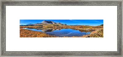 Alberta Mountain Reflections Panorama Framed Print by Adam Jewell
