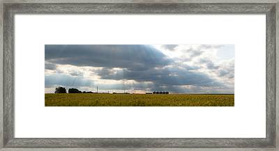Alberta Wheat Field Framed Print by Stuart Turnbull