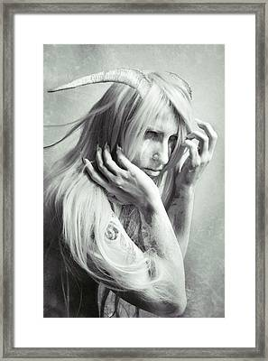 Albino Demon Framed Print by Cambion Art